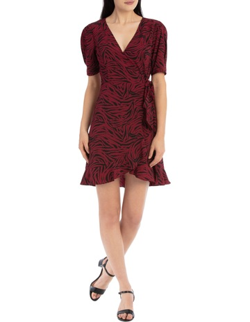 Tokito puff sleeve wrap dress 1ac063dba