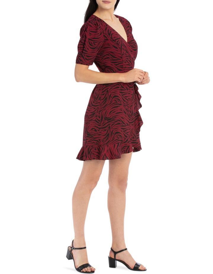 puff sleeve wrap dress image 2