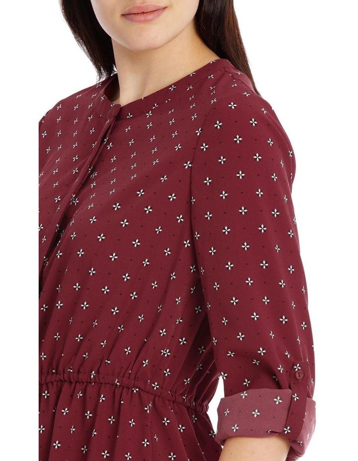 roll cuff shirt dress - ditsy geo image 4