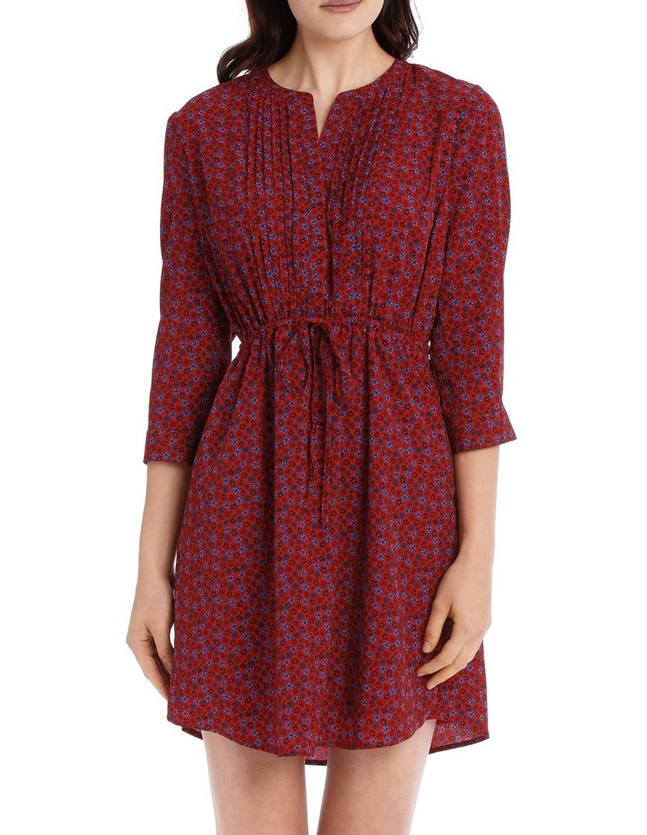 Pleat Front Shirt Dress - Ditsy image 1