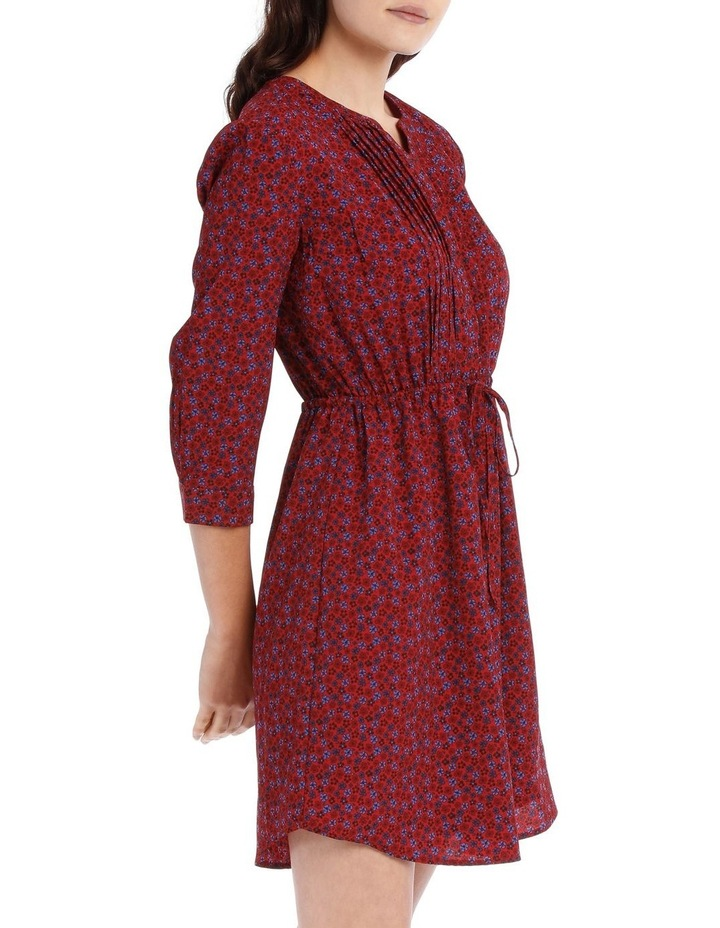 Pleat Front Shirt Dress - Ditsy image 2