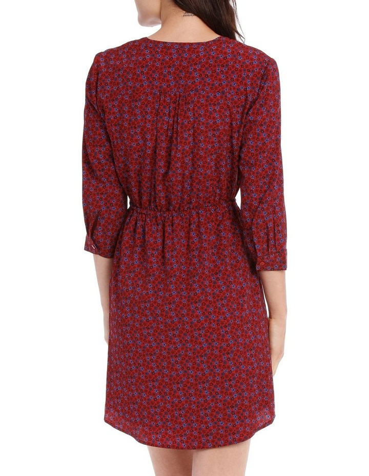 Pleat Front Shirt Dress - Ditsy image 3