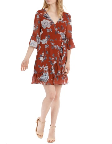 f3ae51eb5bf Tokito frilly wrap dress - botanical floral