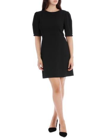 d776f2717f0 Tokito Black Puff Sleeve Work Dress