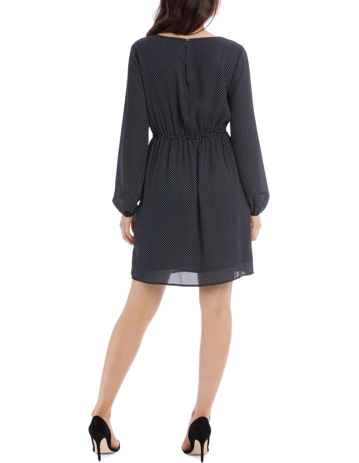 Tie Front Skater Dress - Micro Spot image 3