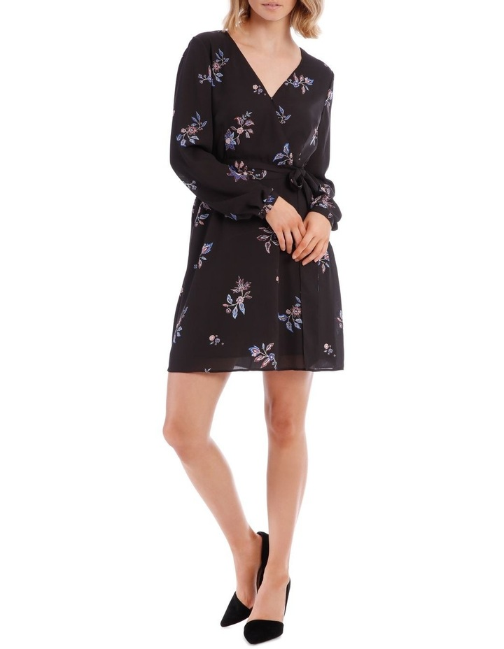 Spaced Paisley Cross Front Print Dress image 1