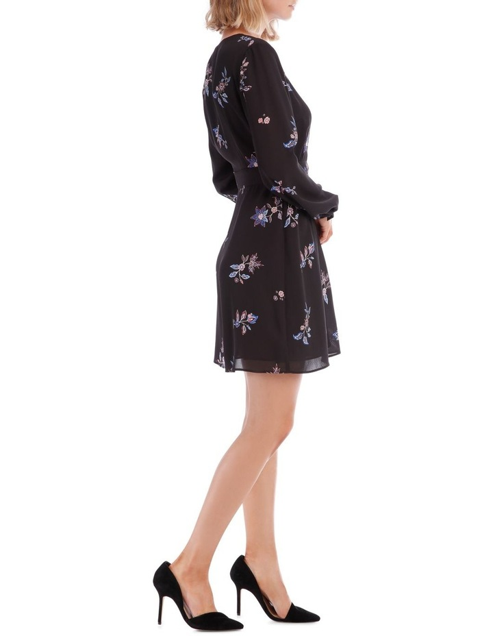 Spaced Paisley Cross Front Print Dress image 2
