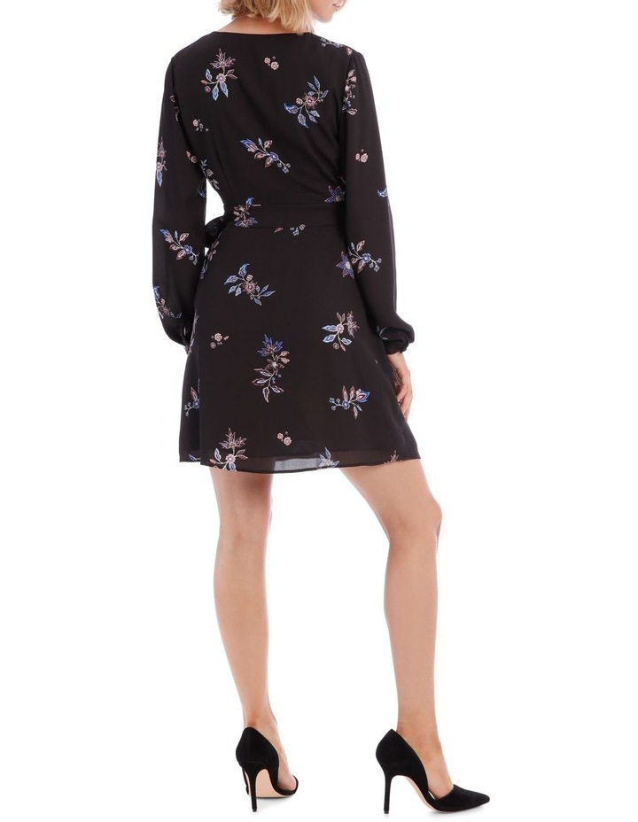 Spaced Paisley Cross Front Print Dress image 3