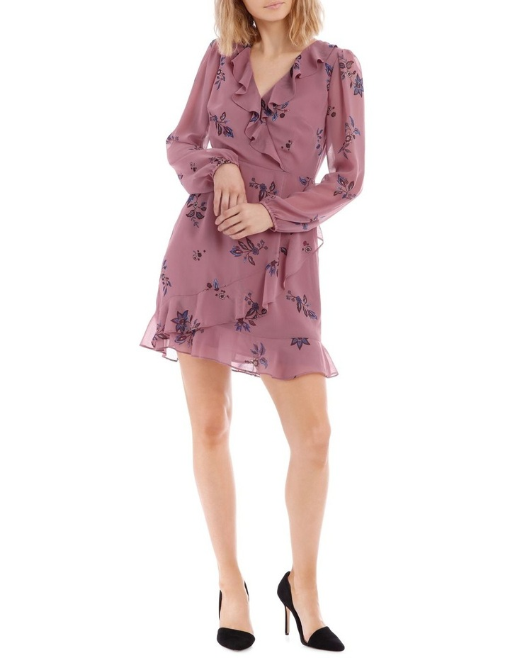 Spaced Paisley Frilly Fixed Wrap Dress image 1