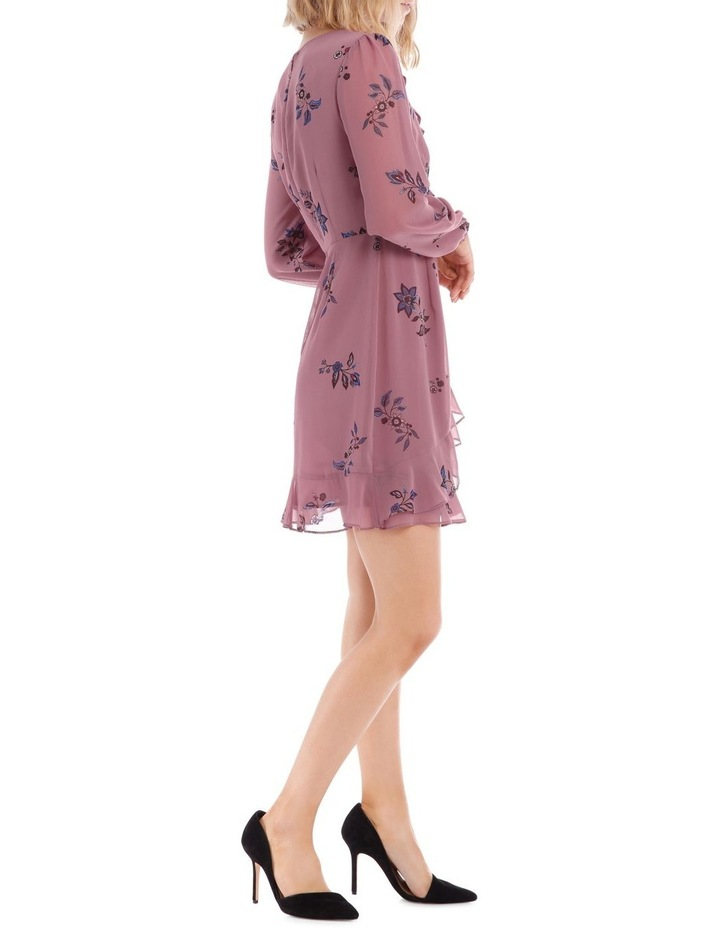 Spaced Paisley Frilly Fixed Wrap Dress image 2