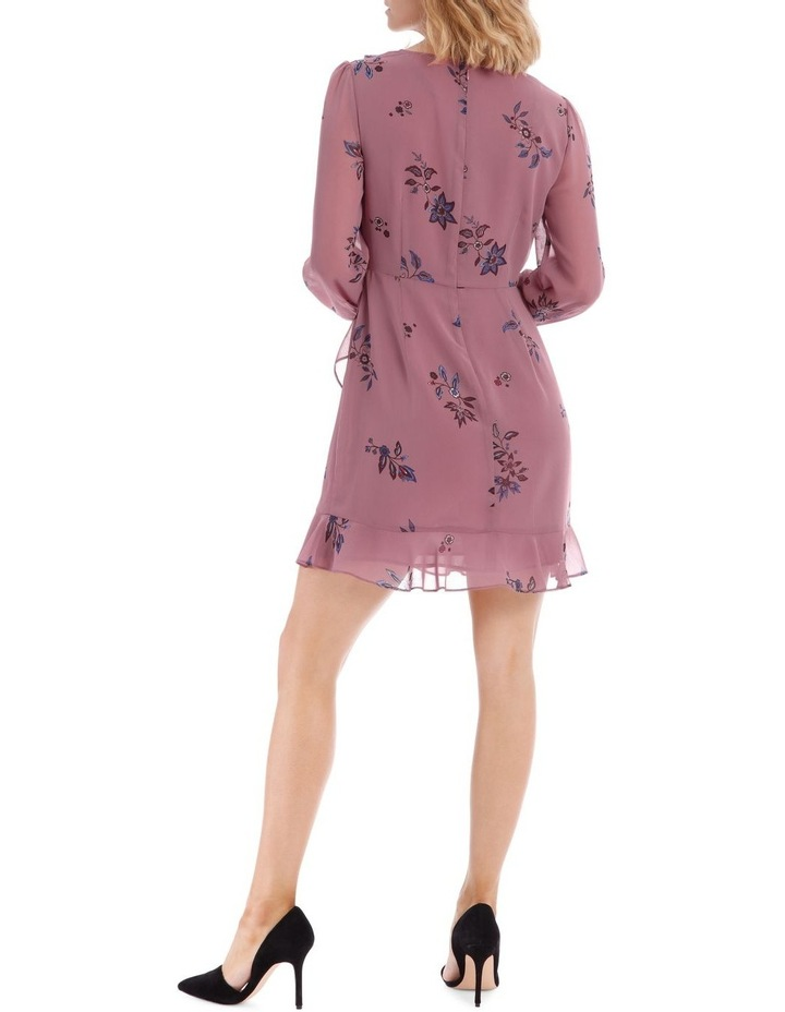 Spaced Paisley Frilly Fixed Wrap Dress image 3