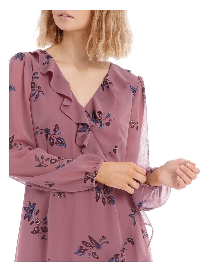 Spaced Paisley Frilly Fixed Wrap Dress image 4