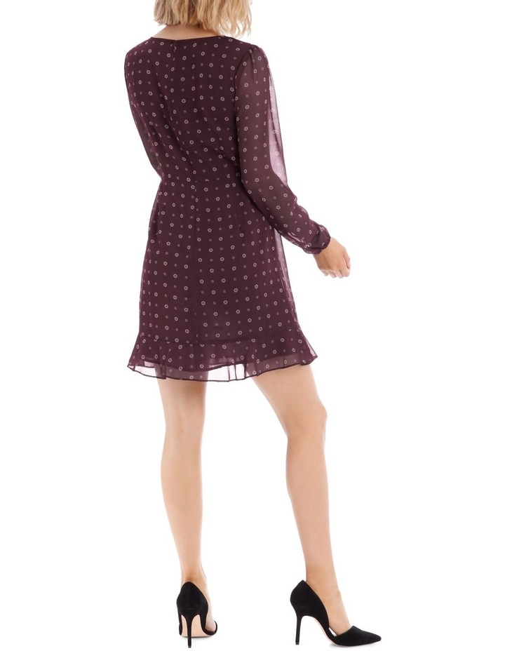 Ditsy Spot Frilly Fixed Wrap Dress image 3