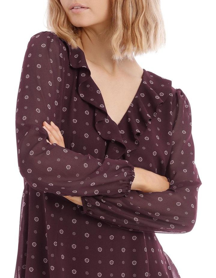 Ditsy Spot Frilly Fixed Wrap Dress image 4