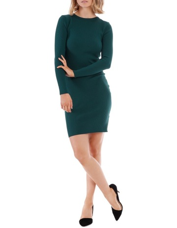 e8644046d06 Tokito Emerald Rib Knit Dress