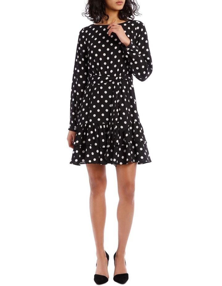 Double Frill Skirt Dress - Polka Dot image 1