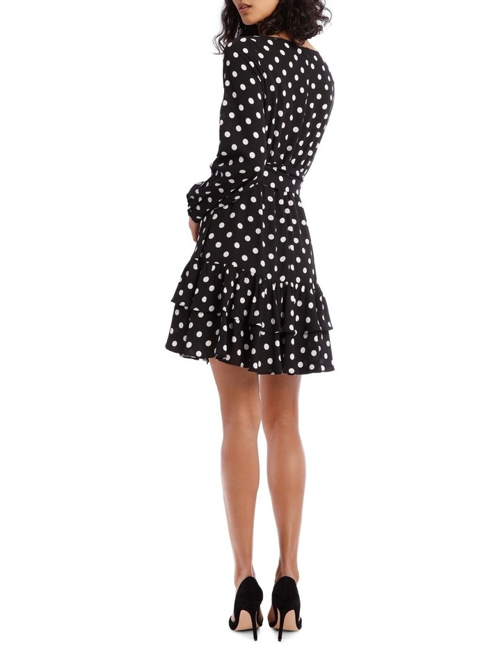 Double Frill Skirt Dress - Polka Dot image 3