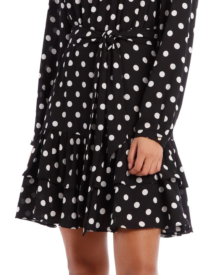 Double Frill Skirt Dress - Polka Dot image 4