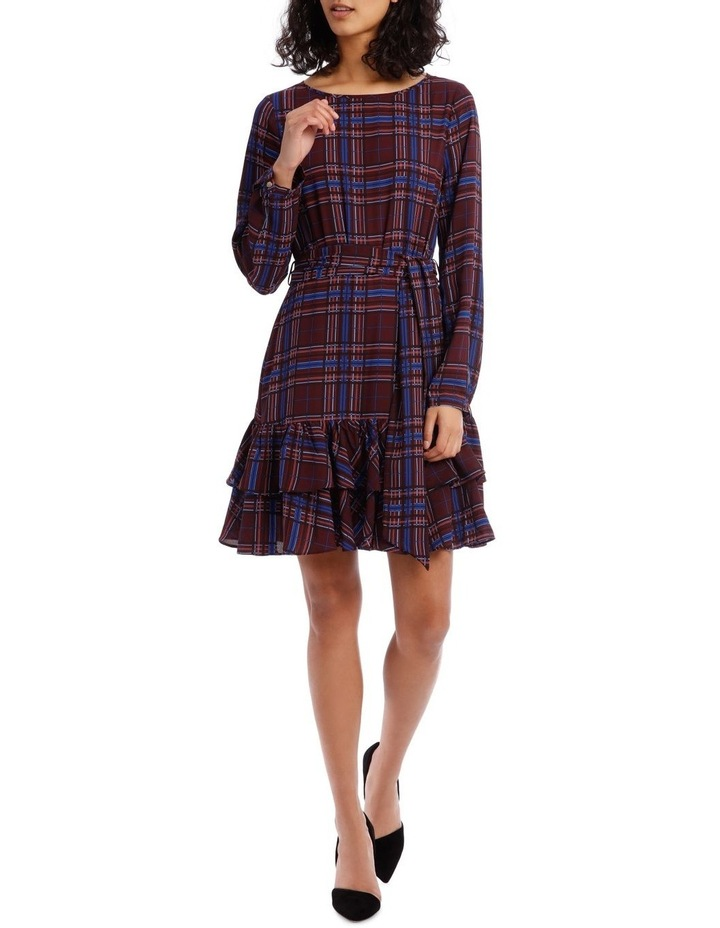 Double Frill Skirt Dress - Check Print image 1