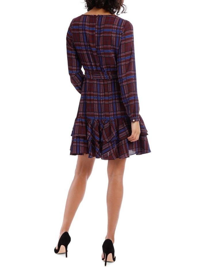 Double Frill Skirt Dress - Check Print image 3