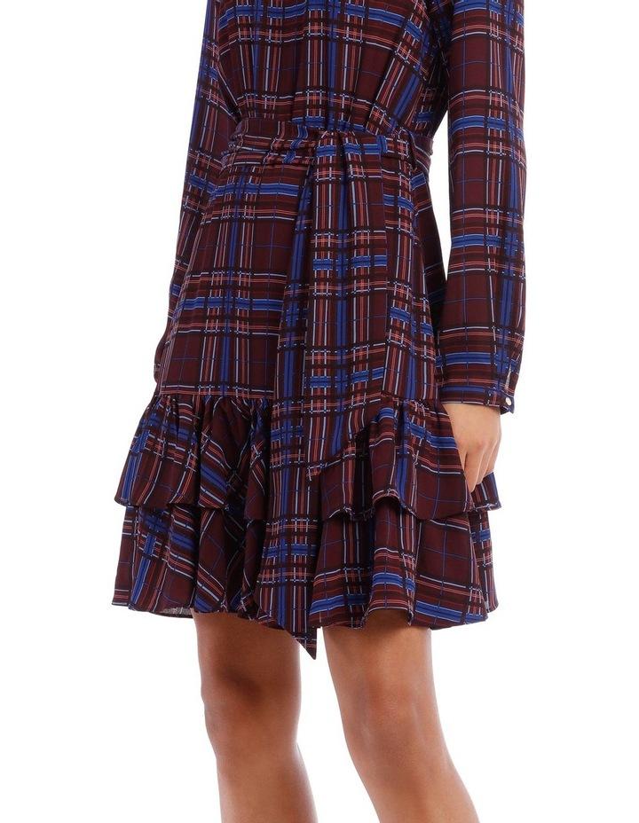 Double Frill Skirt Dress - Check Print image 4