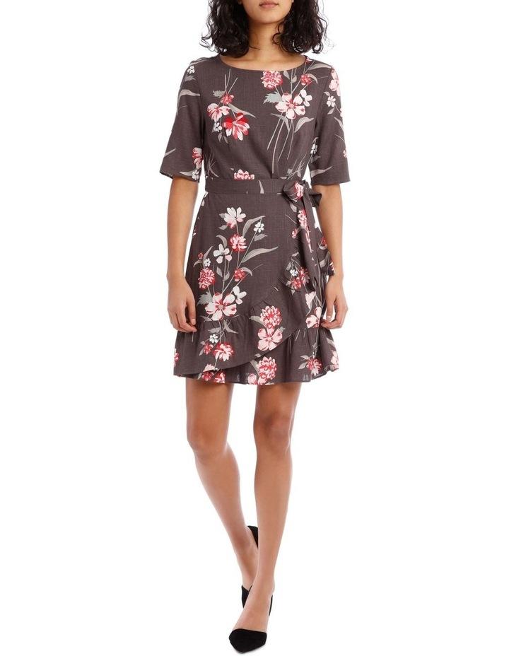 Watercolour Floral Apron Front Dress image 1
