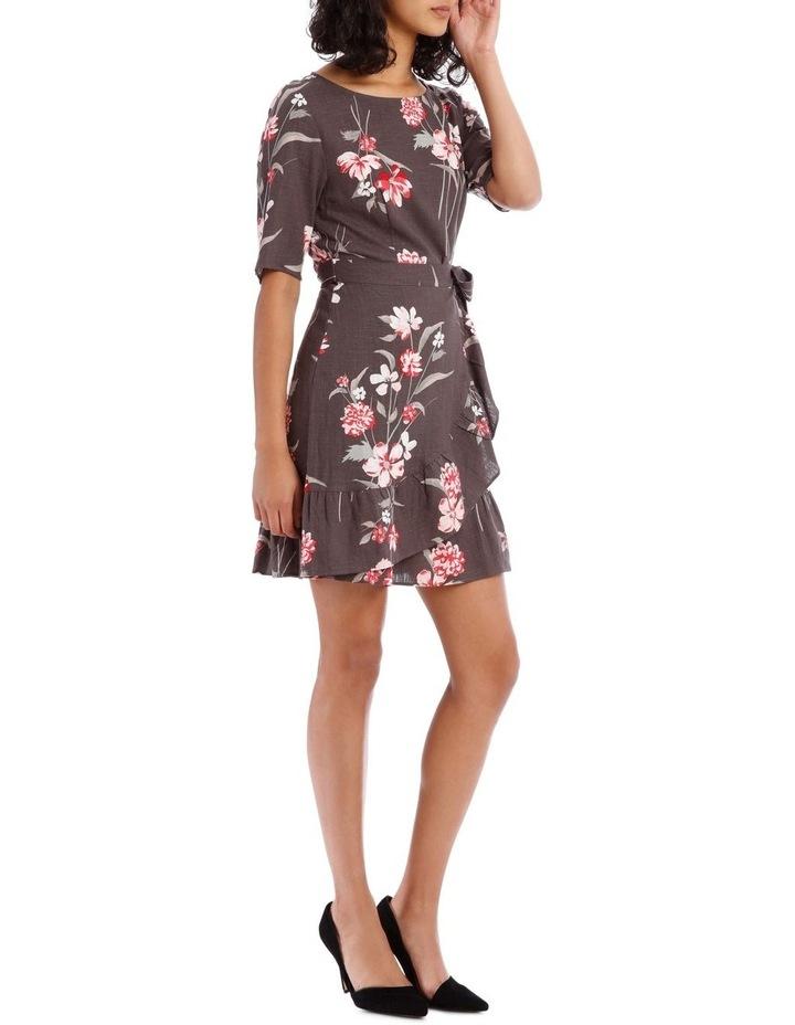 Watercolour Floral Apron Front Dress image 2