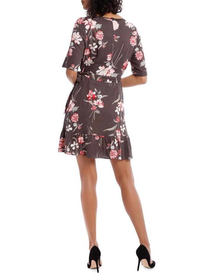 Watercolour Floral Apron Front Dress image 3
