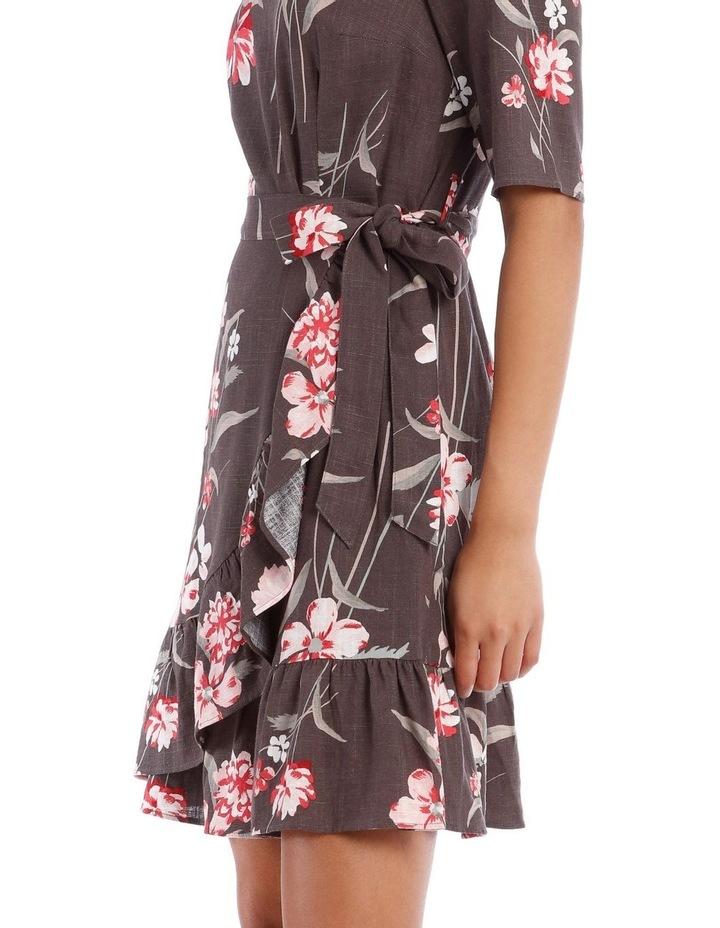 Watercolour Floral Apron Front Dress image 4