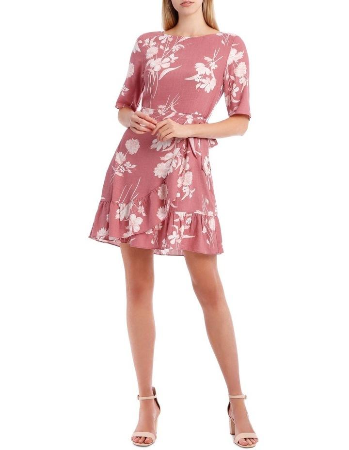 Painted Floral Apron Front Dress image 1