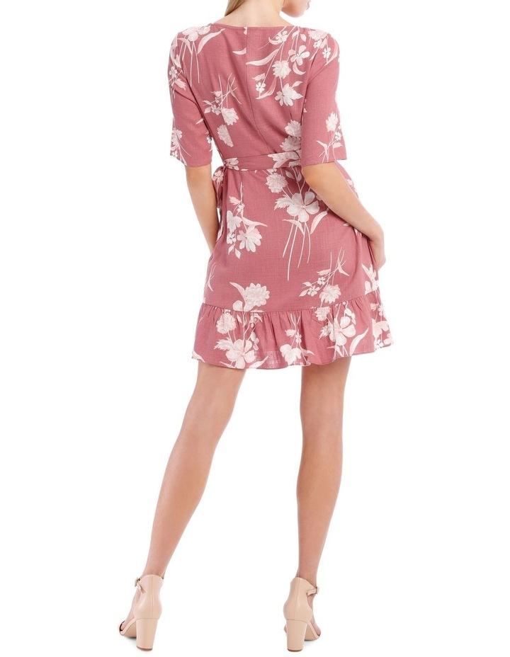Painted Floral Apron Front Dress image 3