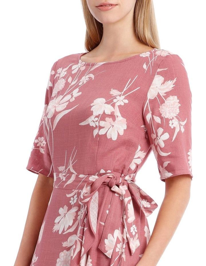 Painted Floral Apron Front Dress image 4