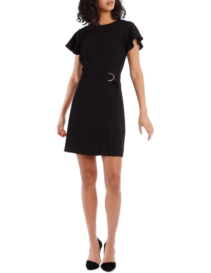 Black Wrap Skirt Pencil Dress image 1