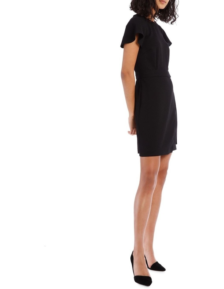 Black Wrap Skirt Pencil Dress image 2
