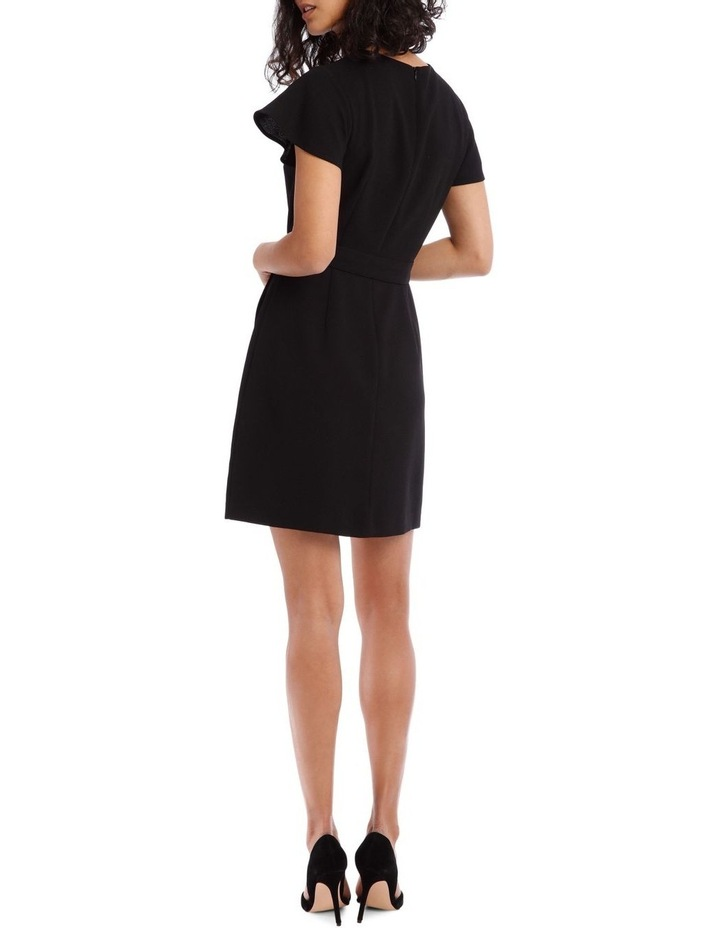 Black Wrap Skirt Pencil Dress image 3