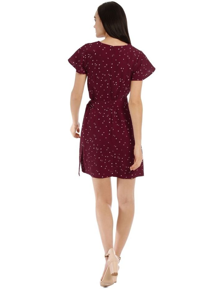 Scatter Ditsy Wrap Skirt Pencil Dress image 3