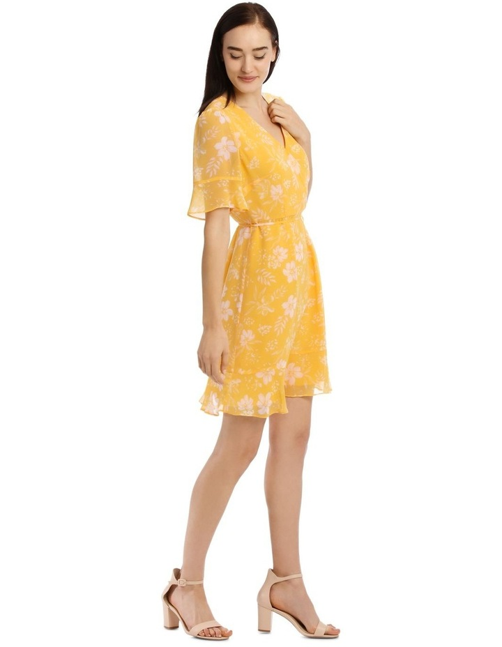Tropical Floral Short Sleeve Wrap Dress image 2