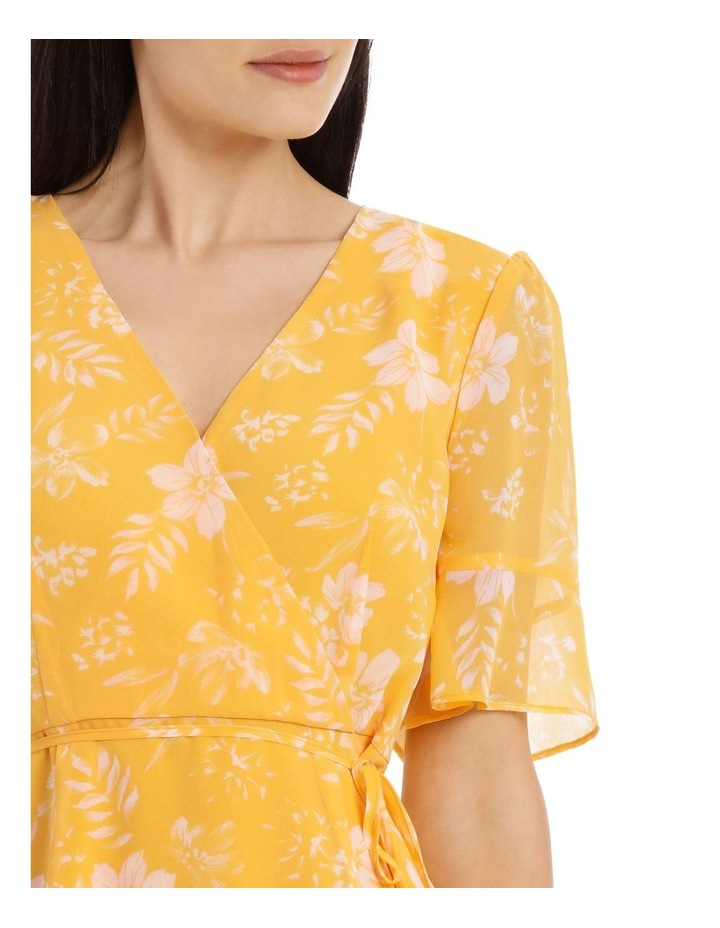 Tropical Floral Short Sleeve Wrap Dress image 4