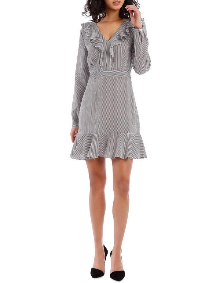 Shirting Stripe Frill Dress image 1