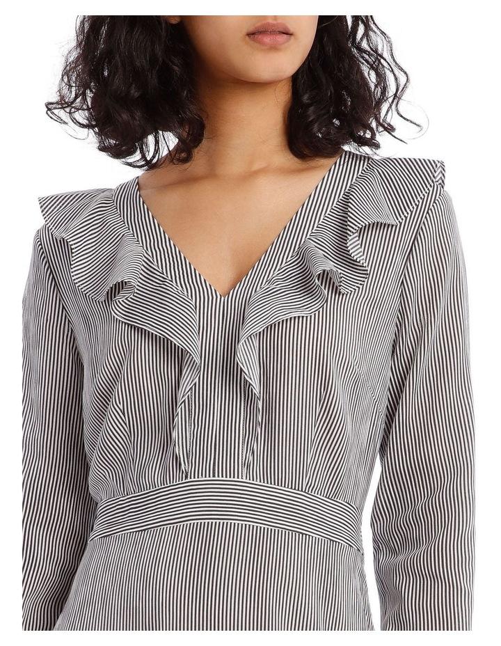 Shirting Stripe Frill Dress image 4