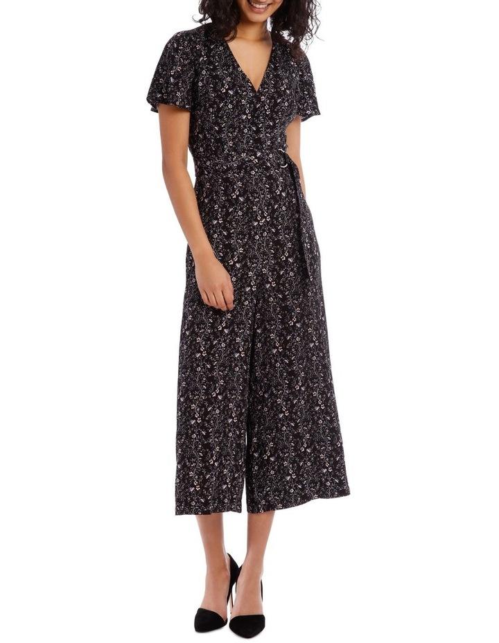 Vine Floral Culotte Jumpsuit image 1
