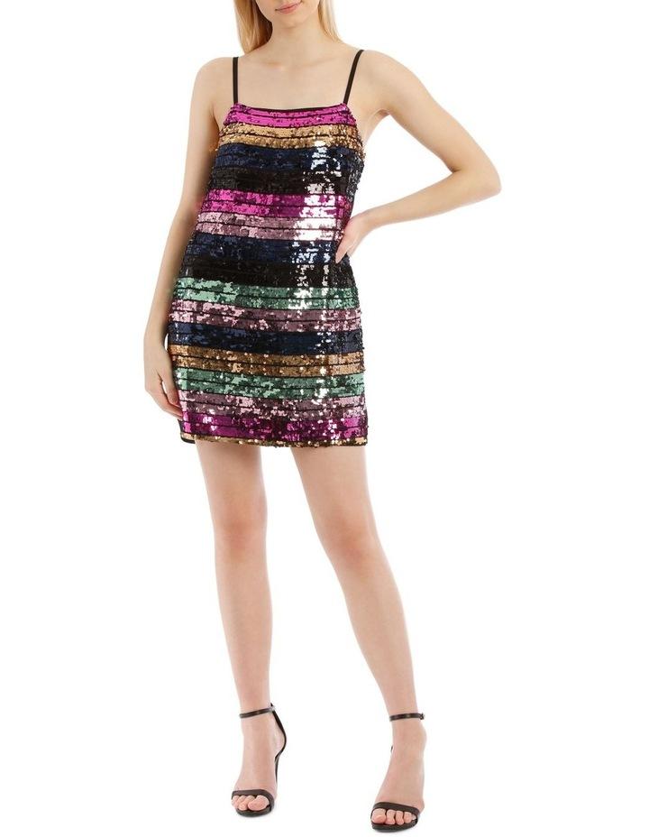 Tokito Stripe Sequin Shift Dress
