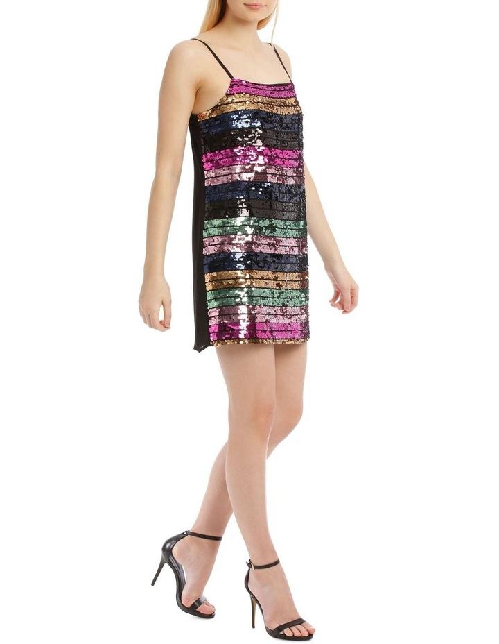 Stripe Sequin Shift Dress image 2