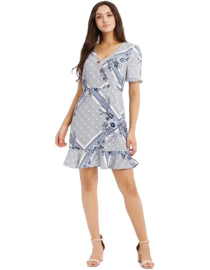 Button Detail Mock Wrap Dress image 1
