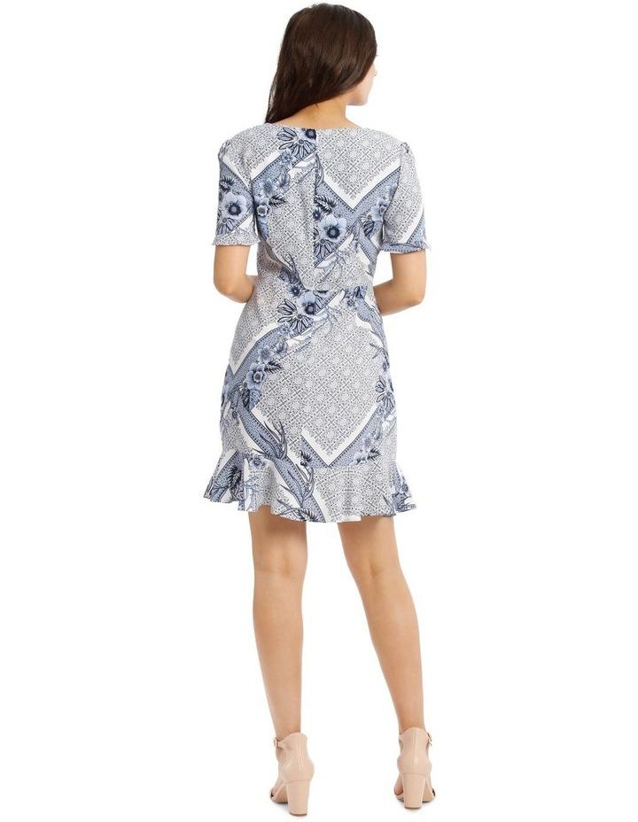 Button Detail Mock Wrap Dress image 3