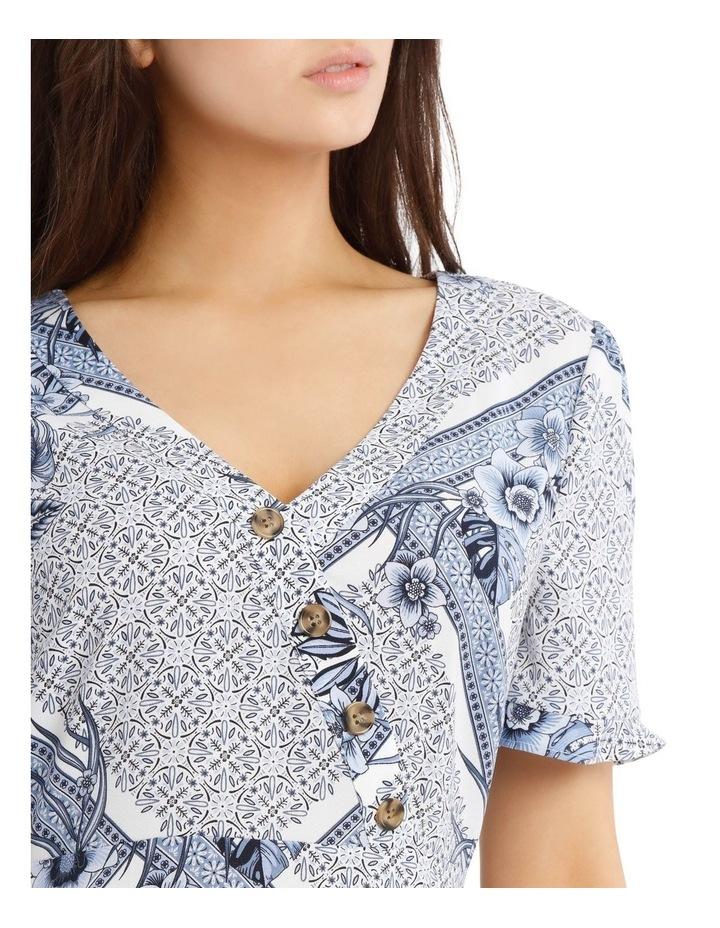 Button Detail Mock Wrap Dress image 4