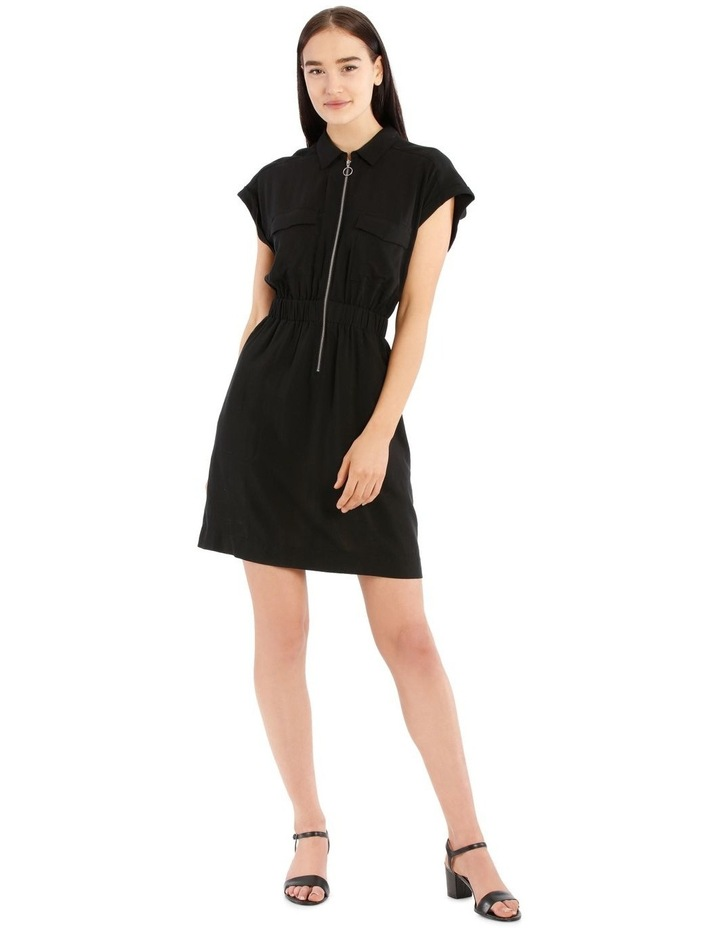Zip Front Shirt Dress image 1