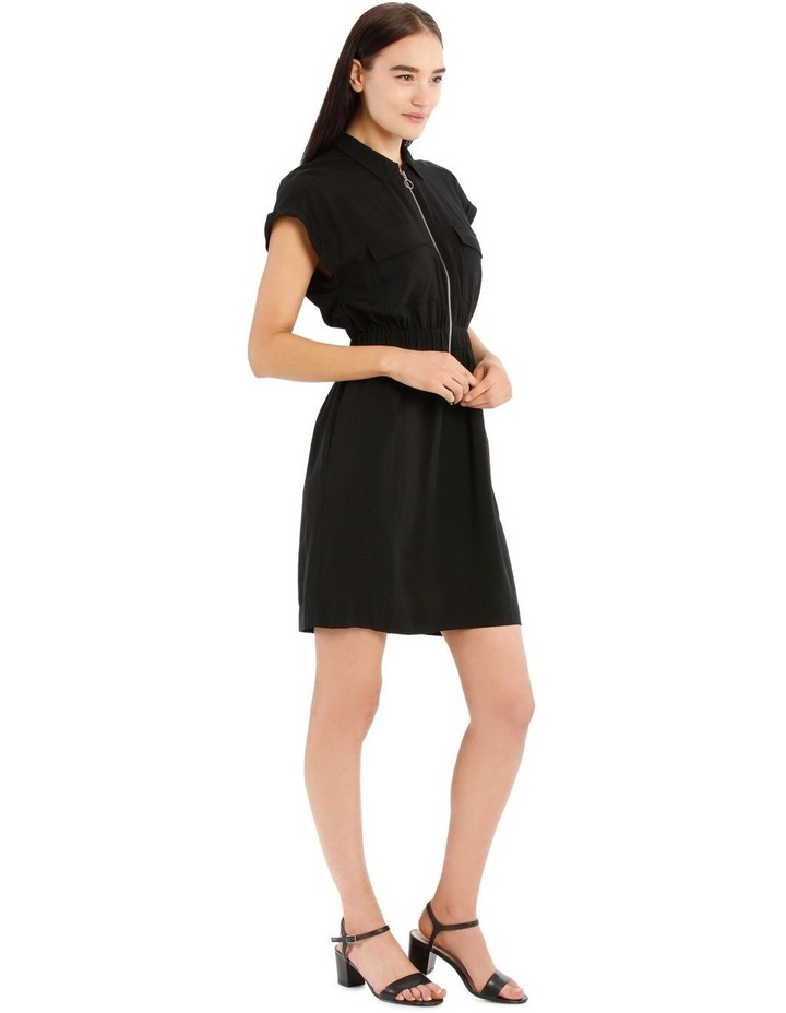Zip Front Shirt Dress image 2