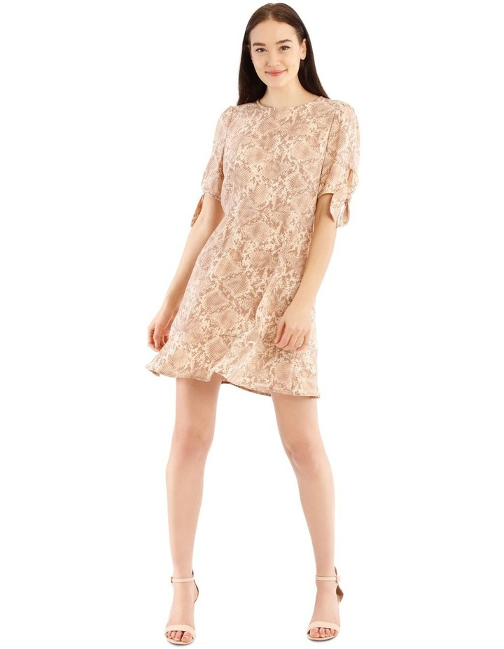 Tie Sleeve Fit And Flare Dress image 1