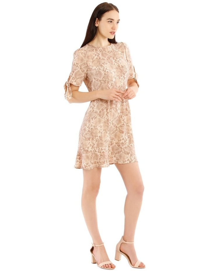 Tie Sleeve Fit And Flare Dress image 2